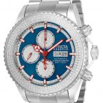 Invicta Elite Diamond Mens Automatic 47mm Stainless Steel Case Blue Dial – Model 23288
