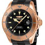 Invicta Pro Diver Mens Quartz 43mm Rose Gold Case Gunmetal Dial – Model 23401