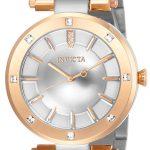 Invicta Angel Women's Quartz 38mm Rose Gold Case Silver Dial – Model 23727