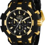 Invicta Bolt Men's Quartz 48mm Gold Case Black Dial – Model 23861