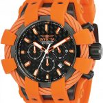 Invicta Bolt Sport Men's Quartz 48mm Black Case Black Dial Orange – Model 23872