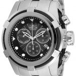 Invicta Bolt Zeus Mens Quartz 53mm Stainless Steel, Black Case Black Dial – Model 23908