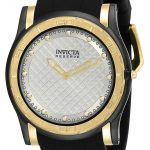 Invicta Reserve Slim Mens Quartz 46mm Gold, Black Case Silver Dial – Model 23948