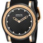 Invicta Reserve Slim Mens Quartz 46mm Black, Rose Gold Case Black Dial – Model 23949