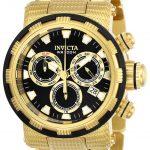 Invicta Specialty Mens Quartz 46mm Gold Case Black Dial – Model 23980