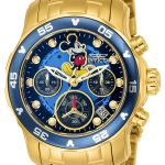 Invicta Disney Limited Edition Mickey Mouse Women's Quartz 38mm Gold Case Black Dial – Model 24130