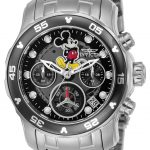 Invicta Disney Limited Edition Mickey Mouse Womens Quartz 38mm Stainless Steel Case Black Dial – Model 24132