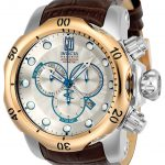 Invicta Jason Taylor Mens Quartz 53.7mm Stainless Steel, Rose Gold Case Silver Dial – Model 24245