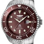 Invicta Pro Diver Mens Automatic 54mm Stainless Steel Case Brown Dial – Model 24323