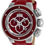 Invicta Wood Sea Dragon Reserve Mens Quartz 52mm Stainless Steel, Red Wood Case Silver, Red Wood Dial – Model 24435