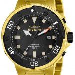 Invicta Pro Diver Mens Automatic 49mm Gold Case Black Dial – Model 24467