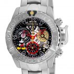 Invicta Disney Limited Edition Mickey Mouse Womens Quartz 38mm Stainless Steel Case Black, Gunmetal, Silver Dial – Model 24506