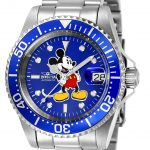 Invicta Disney Limited Edition Mickey Mouse Mens Automatic 40mm Stainless Steel Case Blue Dial – Model 24608