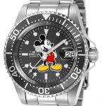 Invicta Disney Limited Edition Mickey Mouse Mens Automatic 40mm Stainless Steel Case Charcoal Dial – Model 24610