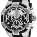 Invicta Bolt Mens Quartz 52mm Stainless Steel Case Silver, Black Dial – Model 24691