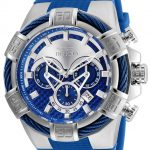 Invicta Bolt Mens Quartz 52mm Stainless Steel Case Silver, Blue Dial – Model 24696