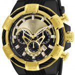 Invicta Bolt Mens Quartz 52mm Black Case Gold, Black Dial – Model 24699