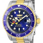 Invicta Disney Limited Edition Mickey Mouse Mens Automatic 40mm Stainless Steel, Gold Case Blue Dial – Model 24754