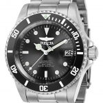 Invicta Pro Diver Mens Automatic 40mm Stainless Steel Case Black Dial – Model 24760