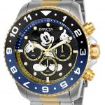 Invicta Disney Limited Edition Mickey Mouse Mens Quartz 44mm Stainless Steel Case Black Dial – Model 24954