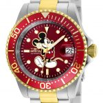 Invicta Disney Limited Edition Mickey Mouse Mens Automatic 40mm Stainless Steel, Gold Case Red Dial – Model 25104