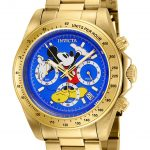 Invicta Disney Limited Edition Mickey Mouse Mens Quartz 39.5mm Gold Case Blue Dial – Model 25195