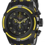 Invicta Jason Taylor Mens Quartz 53mm Black, Yellow Case Black Dial – Model 25232