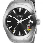 Invicta Disney Limited Edition Mickey Mouse Mens Quartz 42mm Stainless Steel Case Black Dial – Model 25236