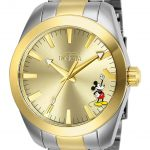 Invicta Disney Limited Edition Mickey Mouse Mens Quartz 42mm Stainless Steel Case Gold Dial – Model 25237