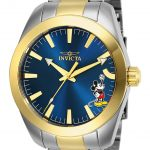 Invicta Disney Limited Edition Mickey Mouse Mens Quartz 42mm Stainless Steel Case Blue Dial – Model 25240