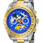 Invicta Disney Limited Edition Mickey Mouse Mens Quartz 39.5mm Stainless Steel, Gold Case Blue Dial – Model 25257