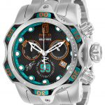 Invicta Jason Taylor Hall of Fame Limited Edition Mens Quartz 52.5mm Stainless Steel, Blue Case Gunmetal Dial – Model 25303