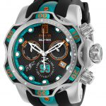 Invicta Jason Taylor Mens Hall of Fame Limited Edition Quartz 52.5mm Stainless Steel, Blue Case Gunmetal Dial – Model 25305