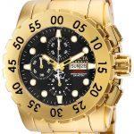 Invicta Reserve Diver Mens Quartz 42mm Gold Case Gold, Black Dial – Model 25436