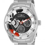 Invicta Disney Limited Edition Mickey Mouse Womens Quartz 38mm Stainless Steel Case Silver Dial – Model 25446