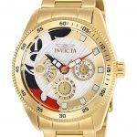 Invicta Disney Limited Edition Mickey Mouse Womens Quartz 38mm Gold Case Gold Dial – Model 25447