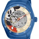 Invicta Disney Limited Edition Mickey Mouse Mens Automatic 44mm Blue Case Gold Dial – Model 25454