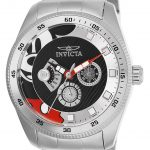 Invicta Disney Limited Edition Mickey Mouse Mens Quartz 44mm Stainless Steel Case Silver Dial – Model 25456