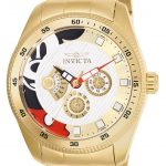 Invicta Disney Limited Edition Mickey Mouse Mens Quartz 44mm Gold Case Gold Dial – Model 25457