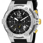 Invicta Bolt Rivet Mens Quartz 51.5mm Stainless Steel Case Black Dial – Model 25472