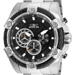 Invicta Bolt Mens Quartz 52mm Stainless Steel Case Black Dial – Model 25512