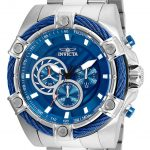Invicta Bolt Mens Quartz 52mm Stainless Steel Case Blue Dial – Model 25513