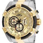 Invicta Bolt Mens Quartz 52mm Stainless Steel Case Gold Dial – Model 25518