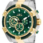 Invicta Bolt Mens Quartz 52mm Stainless Steel Case Green Dial – Model 25519
