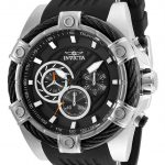 Invicta Bolt Mens Quartz 52mm Stainless Steel Case Black Dial – Model 25523