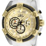 Invicta Bolt Mens Quartz 52mm Stainless Steel Case Gold Dial – Model 25528