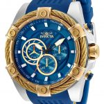 Invicta Bolt Mens Quartz 52mm Stainless Steel Case Blue Dial – Model 25529