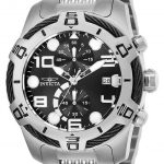 Invicta Bolt Mens Quartz 51mm Stainless Steel Case Black Dial – Model 25547