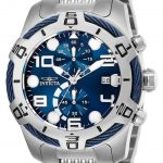 Invicta Bolt Mens Quartz 51mm Stainless Steel Case Blue Dial – Model 25548