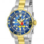 Invicta Disney Limited Edition Mickey Mouse Womens Quartz 30mm Stainless Steel, Gold Case Blue Dial – Model 25573